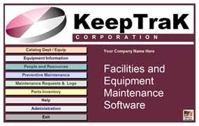 KeepTrak Preventive Maintenance Software MAIN MENU